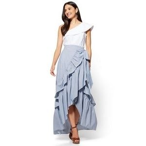Ruffle Wrap Hi Low Skirt - Never Worn